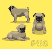 Dog Pug Cartoon Vector Illustration Royalty Free Stock Photography