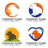 Dog Puppy Care Concept Logo Royalty Free Stock Photos