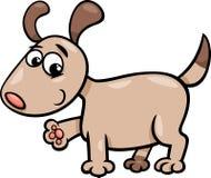 Dog puppy cartoon illustration Royalty Free Stock Photos