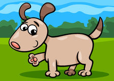Dog puppy cartoon illustration Royalty Free Stock Photography
