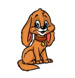 Dog puppy happiness cartoon illustration Royalty Free Stock Images