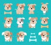 Dog puppy.Happy Dog cartoon Royalty Free Stock Photography