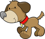 Dog Puppy Vector. Cute Dog Puppy Vector Illustration Stock Photography