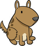 Dog Puppy Vector. Cute Dog Puppy Vector Illustration Royalty Free Stock Image
