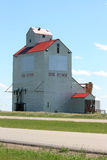 Dog River Grain Elevator. Outdoor filming location for the Canadian sitcom 'Corner Gas' in Rouleau (Dog River), Saskatchewan, Canada Stock Images