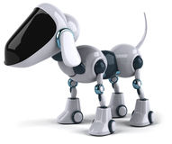 Dog Robot. Fun 3d robot, 3d generated picture Royalty Free Stock Photo