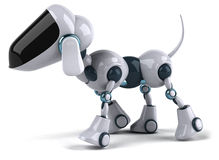 Dog Robot. Fun 3d robot, 3d generated picture Stock Photography