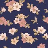 Dog-rose blooms. wild rose vector seamless pattern. Dog-rose blooms. pink wild rose vector seamless pattern Stock Photo