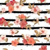 Dog-rose blooms. wild rose vector seamless pattern. Dog-rose blooms. pink wild rose vector seamless pattern Royalty Free Stock Photos