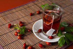 Dog rose tea Stock Image