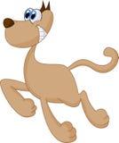 Dog running illustration Royalty Free Stock Image