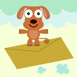 Dog's air mail Royalty Free Stock Image