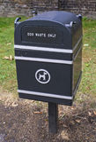 Dog's box. A box for dog waste in London Stock Photography