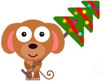 Dog's Christmas tree Royalty Free Stock Photo