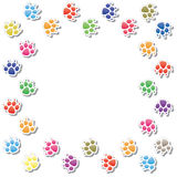 Dog's foot prints Royalty Free Stock Image