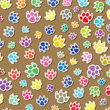 Dog's foot prints Royalty Free Stock Images