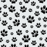 Dog's Footprints - Seamless Pattern Stock Photos