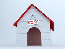 Dog´s House. Illustration showing some relativity related to the dog´s house Royalty Free Stock Images