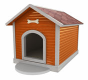Dog`s kennel. Isolated on white Royalty Free Stock Photography