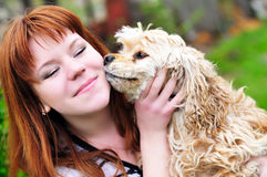 Dog's kiss Stock Photo