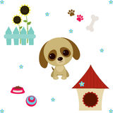 Dog's life set Royalty Free Stock Images