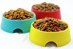 Dog`s pellets in bowl Stock Photos