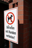 Dog's prohibition Stock Photography