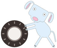 Dog's tire Royalty Free Stock Photography