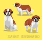Dog Saint Bernard Cartoon Vector Illustration Stock Photo