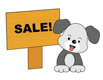Dog sale Royalty Free Stock Photos