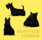 Dog Scottish Terrier Cartoon Vector Illustration Royalty Free Stock Photography