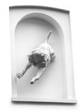 Dog sculpture in marble Stock Photography