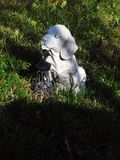 Dog sculpture in the yard Stock Image