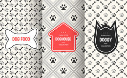 Dog seamless pattern background. Vector illustration for animal pet design Stock Photography