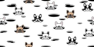 Free Dog Seamless Pattern French Bulldog Hole Hide Vector Scarf Isolated Repeat Wallpaper Tile Background Cartoon Puppy Head Pet Doodle Royalty Free Stock Photos - 181102908