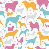 Dog seamless pattern. Heatlh care, vet, nutrition, exhibition Stock Image