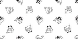 Dog seamless pattern vector bath french bulldog shower cartoon scarf isolated tile background repeat wallpaper illustration white. Cute stock illustration