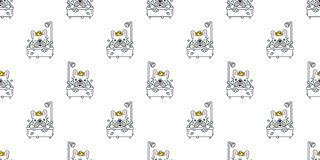 Dog seamless pattern vector bath french bulldog shower rubber duck cartoon scarf isolated tile background repeat wallpaper illustr. Ation white cute vector illustration