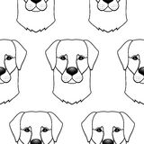 Dog seamless pattern Royalty Free Stock Photo