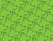 Dog Seamless Pattern vector puppy french bulldog hound wallpaper background isolated green. Dog Seamless Pattern vector puppy hound french bulldog repeat royalty free illustration