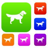 Dog set collection Royalty Free Stock Photography