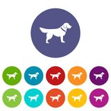 Dog set icons Stock Photo