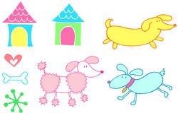Dog Set Vector Stock Images