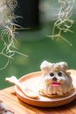 Dog shape cake Royalty Free Stock Photos