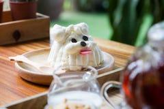 Dog shape cake Stock Images