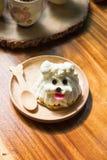 Dog shape cake Royalty Free Stock Photo