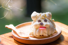 Dog shape cake Royalty Free Stock Images