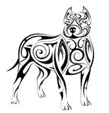 Dog shape tattoo Stock Photography