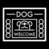Dog shelter simple vector icon. Black and white illustration of house for Homeless dogs. Outline linear icon. Eps 10 Royalty Free Stock Image