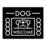 Dog shelter simple vector icon. Black and white illustration of house for Homeless dogs. Solid linear icon. Eps 10 Stock Photo